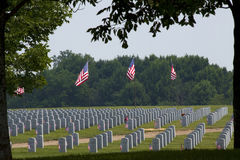 Memorial Day Abraham Lincoln National Cemetery Stock Images