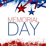Memorial Day. An abstract illustration of the Memorial Day, on a Patriotic background