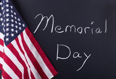 Memorial Day and American Flag Stock Images