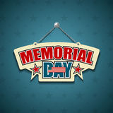 Memorial Day American signs royalty free illustration
