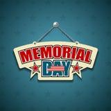 Memorial Day amerikantecken royaltyfri illustrationer