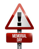Memorial day attention sign illustration Royalty Free Stock Image