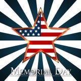 Memorial Day avec l'étoile dans des couleurs de drapeau national illustration libre de droits