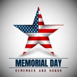 Memorial Day avec l'étoile dans des couleurs de drapeau national illustration stock