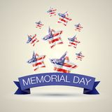 Memorial Day avec l'étoile dans des couleurs de drapeau national illustration de vecteur
