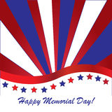 Memorial day background. With American flag colors Stock Photography