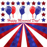 Memorial day background with balloons Royalty Free Stock Images