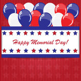 Memorial day background with balloons Stock Images