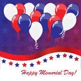 Memorial day background with balloons Royalty Free Stock Photography
