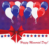 Memorial day background with balloons Stock Image