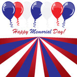Memorial day background with balloons Royalty Free Stock Photo