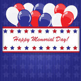 Memorial day background with balloons Royalty Free Stock Image