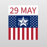 Memorial Day background with the emblem in the form of a white  Stock Photos