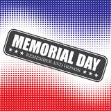 Memorial Day background with halftone . Vector illustration Royalty Free Stock Photo