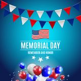 Memorial Day Background Template Vector Illustration Stock Illustration