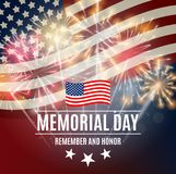 Memorial Day Background Template Vector Illustration Royalty Free Stock Photography