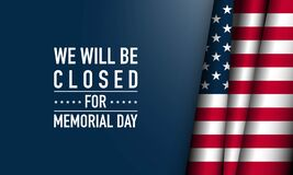 Free Memorial Day Background Vector Illustration. Royalty Free Stock Photography - 183477677
