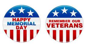 Free Memorial Day Badge Royalty Free Stock Photo - 16567345