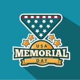 Memorial Day badge or pin design. Stock Photography