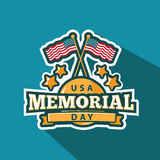 Memorial Day badge or pin design. Stock Image