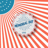 Memorial day, badges logos and labels for any use Stock Photography