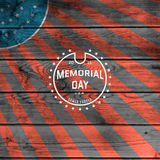 Memorial day, badges logos and labels for any use Royalty Free Stock Photography