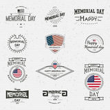 Memorial day, badges logos and labels for any use Stock Image