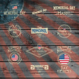Memorial day, badges logos and labels for any use Stock Photo