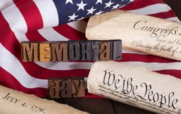 Memorial Day Banner Stock Images