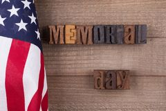Memorial Day Banner Stock Photo