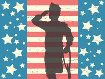 Memorial Day -banner met meer coldier veteraan Royalty-vrije Stock Foto