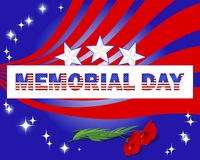 Memorial Day. Banner and red poppies. Royalty Free Stock Image