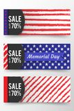 Memorial day banner. Remember and honor. Vector llustration for American holiday. Design template for poster, banner. Flayer, greeting, invitation card, web Stock Photo