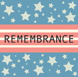 Memorial day banner with Remembrance sign on it. Royalty Free Stock Photography