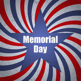 Memorial day banner with sunbrust, grunge and star. Vector illustration Stock Image