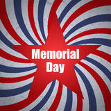 Memorial day banner with sunbrust, grunge and star. Vector illustration Stock Images