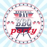 Vector Memorial Day barbecue party flyer, card, invitation template. Memorial Day barbecue party flyer, card, invitation template. Vector illustration stock illustration