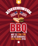Memorial Day BBQ marketing template Royalty Free Stock Image