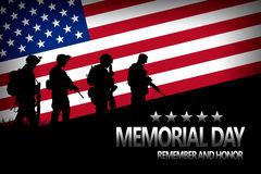 Memorial day royalty free stock photography