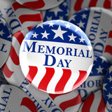 Memorial day button background. 3d render Stock Images