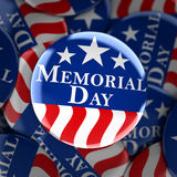 Memorial day button background. 3d render Stock Image