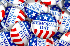 Memorial day button background. 3d render Royalty Free Stock Photography