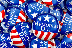 Memorial day button background. 3d render Royalty Free Stock Photo