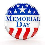 Memorial day button. 3d render Stock Images