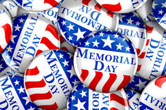 Memorial day button. Pile of Memorial day buttons background Royalty Free Stock Photography