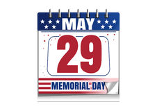 Memorial Day calendar 2017 Royalty Free Stock Image