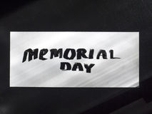 Memorial day calligraphy and lettering post card. Top and clear view. royalty free stock photo