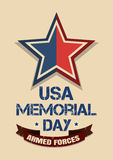 Memorial Day card. Armed Forces Royalty Free Stock Photography