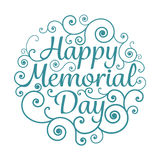 Memorial day card circle typographical Stock Photo