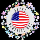 Memorial day card illustration Royalty Free Stock Images